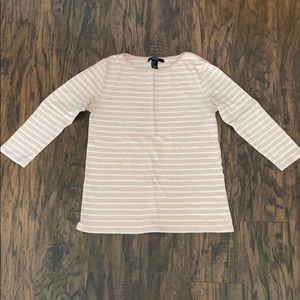 Pink and white striped T-shirt